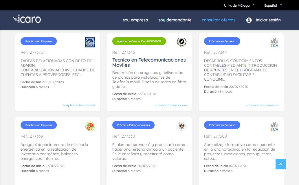Proyecto Ícaro, ofertas de empleo