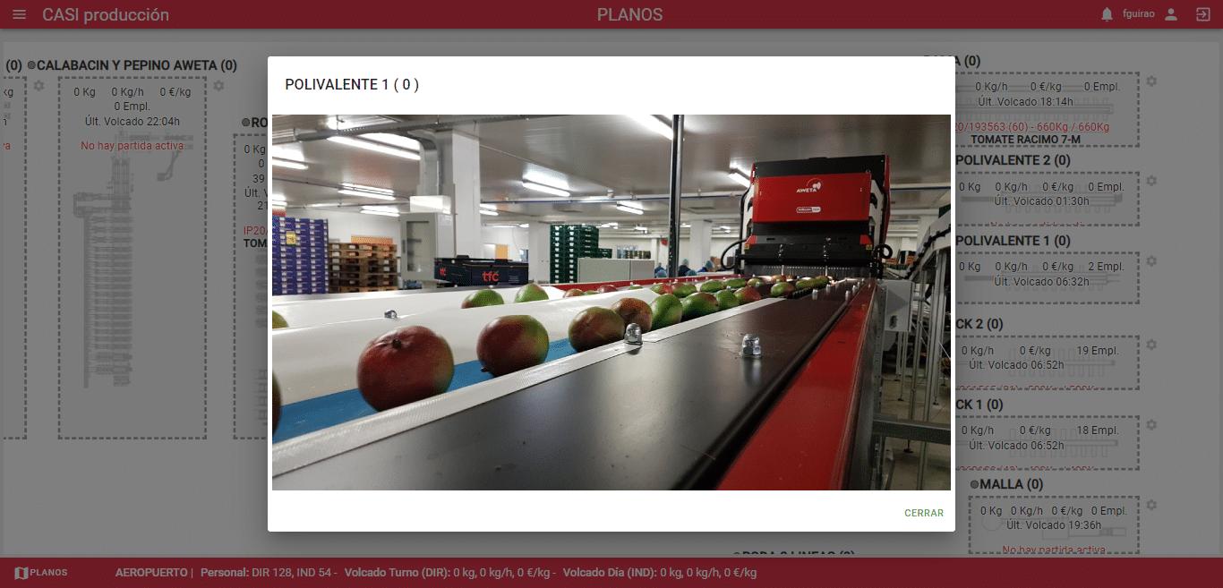 Control visual de plantas de producción